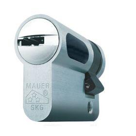 Mauer New Wave 4 halve veiligheidscilinder Nikkel SKG3