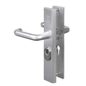 Nemef 3417 AK SKG3 veiligheidsbeslag recht kruk/kruk F1 Aluminium